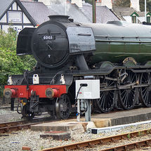 Flying Scotsman at Holyhead Station