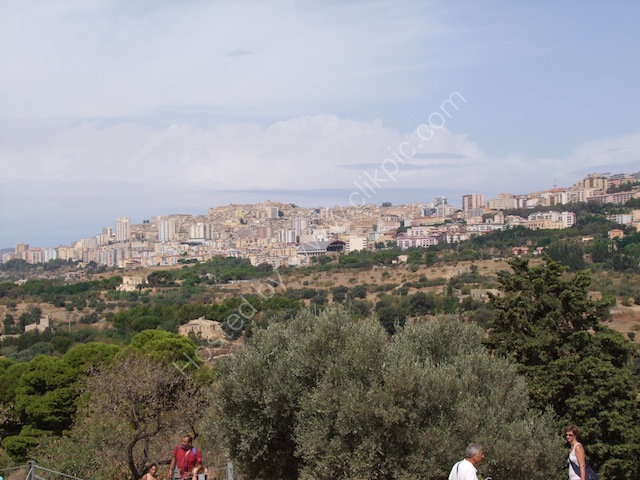 Agrigento Town from Valley of Temples