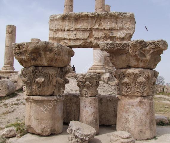 Detail of Roman Carving, Temple of Hercules, Jebel al-Qal'a (Citadel Hill)
