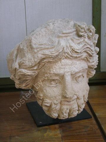Roman Carved Head, Museum at Jebel al-Qal'a (Citadel Hill)
