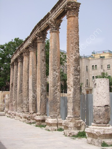 Corinthian Colonnade of Philadelphia's Forum, Amman