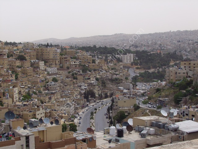 View of Downtown Amman from Jebel al-Qal'a (Citadel Hill)