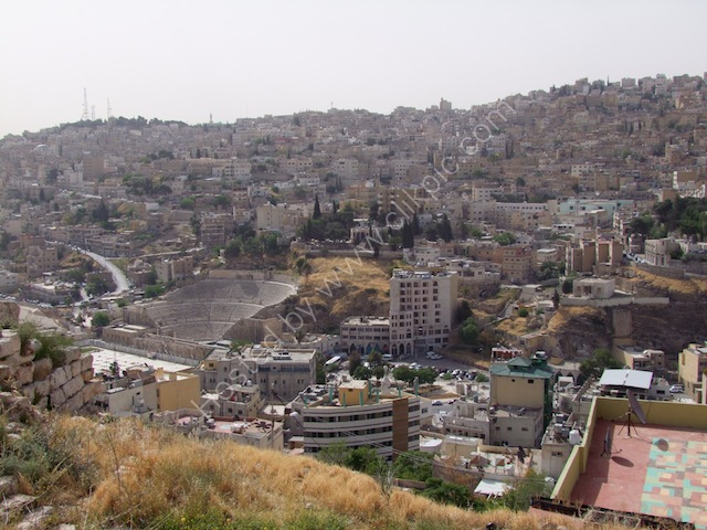 View of Downtown Amman and Roman Theatre from Jebel al-Qal'a (Citadel Hill)