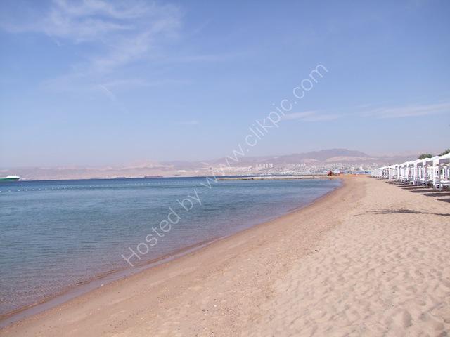 Aqaba Shoreline with Eilat, Israel in background
