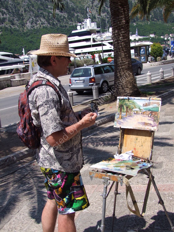 Artist in Kotor