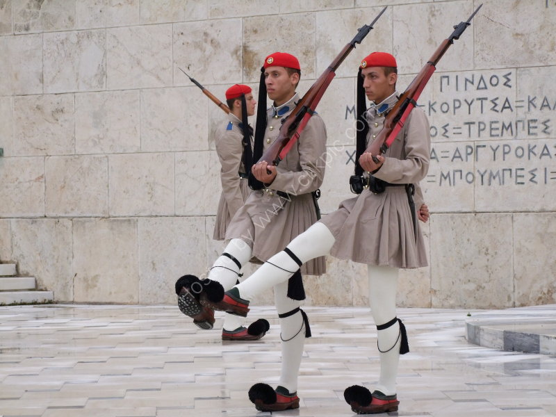 Changing of the Guard at Tomb of the unknown Soldier, Athens