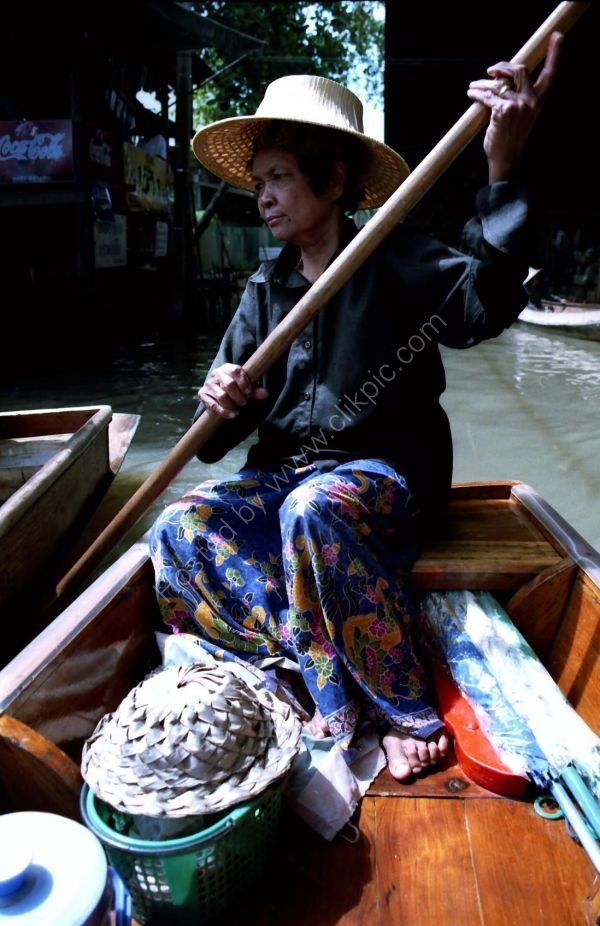 Thai Lady, Floating Market, Bangkok