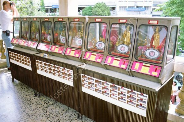 Prayer Machines, Golden Buddha Temple, Bangkok