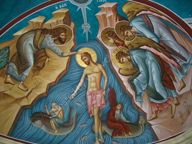 Wall Painting, Greek Orthodox Church, Bethany
