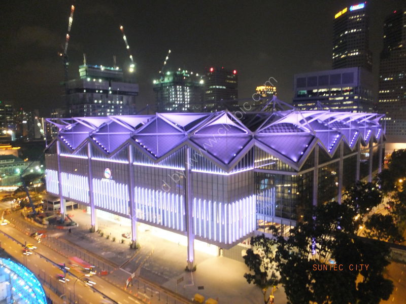 Suntec Plaza at Night, Marina Bay
