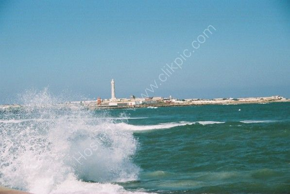 View of El-Hank Lighthouse & Corniche d'Ain Diab, Casablanca