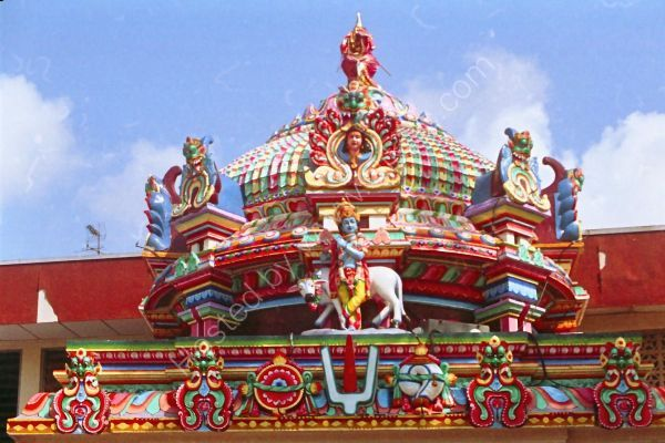 Detail of Chettiar's Hindu Temple, Tank Road, Singapore