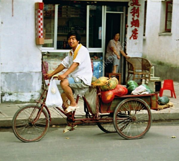 Chinese Cyclist, Suzhou Old Town