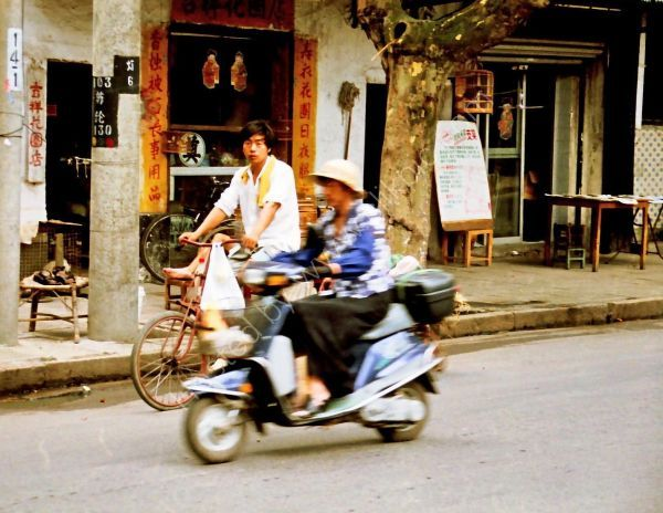 Chinese on Cycle & Scooter, Suzhou Old Town