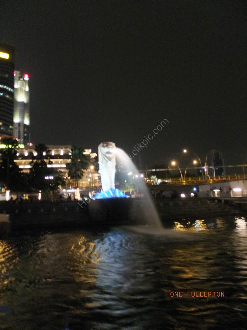 Merlion at Night, Marina Bay