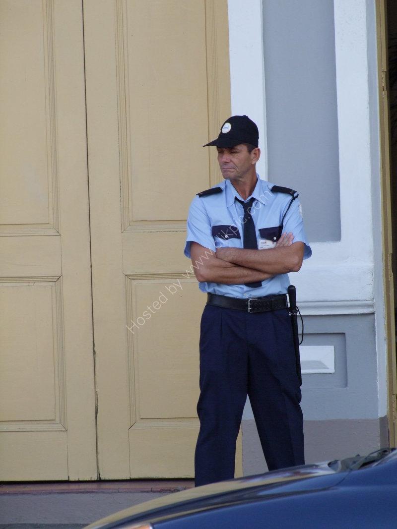 Cuban Security Guard, Cienfuegos