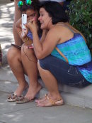 Cuban Ladies Sharing Music, Cienfuegos