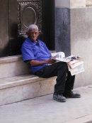 "Cuban ""Granma"" Newspaper Seller, Obispo Street, Havana"