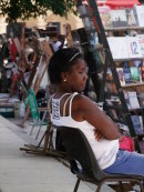 Cuban Lady, Plaza Armas, Havana