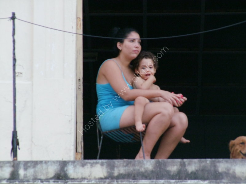Cuban Lady & Child, Prado, Havana