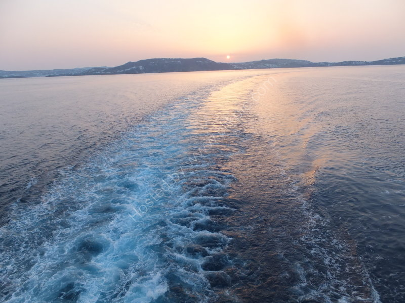 Sunrise over Delos