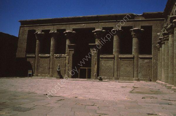 Entrance with Granite Hawks, Edfu
