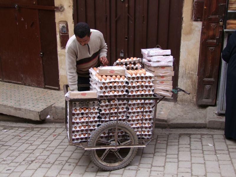 Egg Seller in Medina