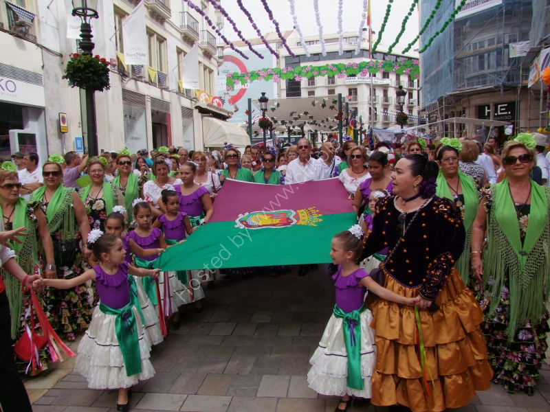 Carrying the Flag to Plaza de La Marina, Malaga Festival