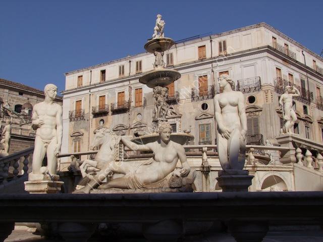 Fountain, Piazza Pretoria, Palermo