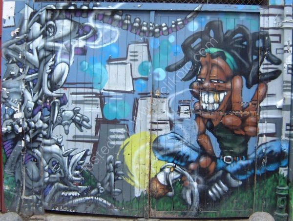 Painted Garage Door, Portobello Road, London