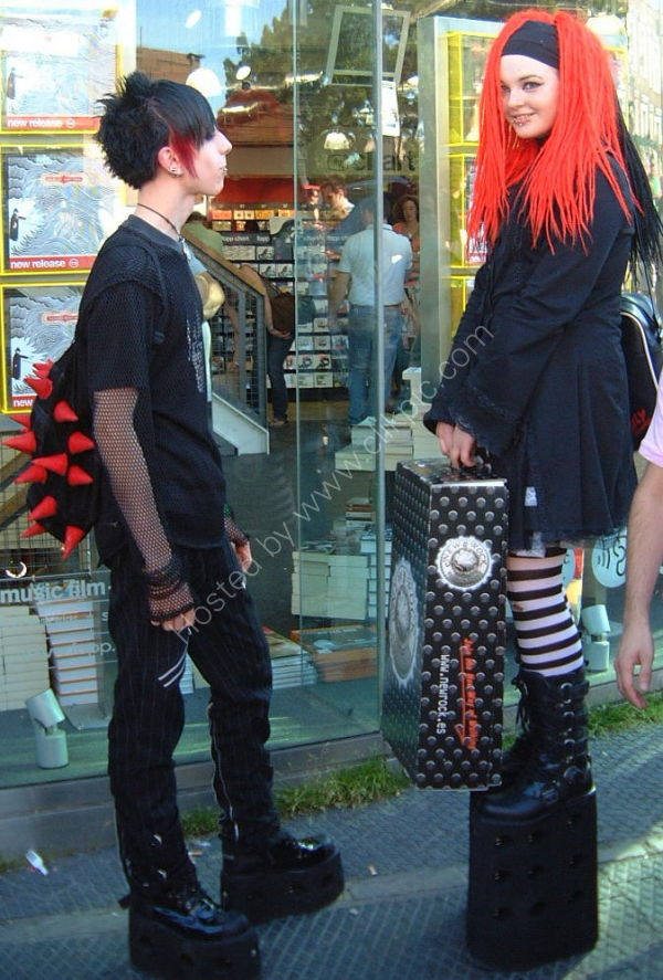 Goths in Camden Lock, London, UK
