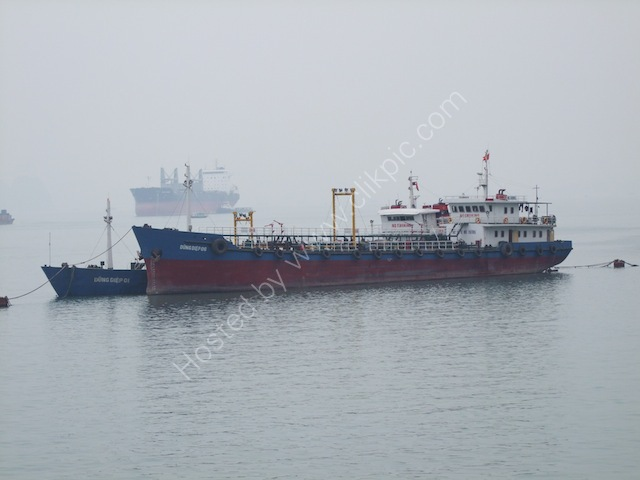 Anchored Vietnamese Merchant Vessels, Halong Bay