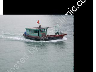 Ferry Boat Underway, Halong Bay
