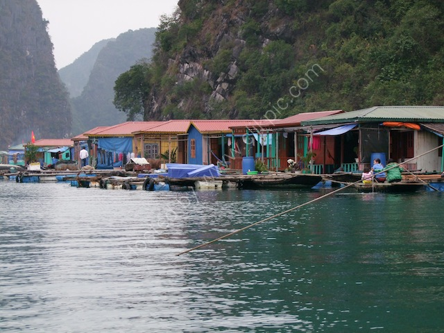 Fishing Village Floating Houses, Halong Bay