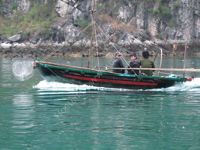 Small Fishing Boat Underway, Halong Bay