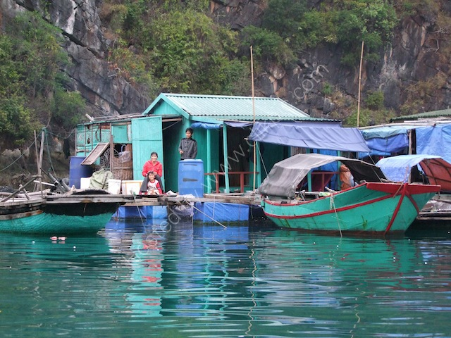 Floating House at Floating Fishing Village, Halong Bay