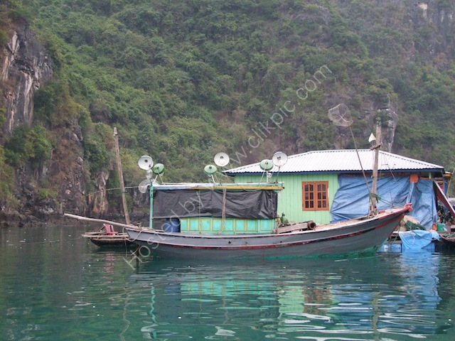 Crab Fishing Boat with Electric Night Lights, Halong Bay