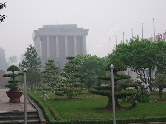 Back of Lang Chu Tich Ho Chi Minh (Ho Chi Minh Mausoleum), Hanoi