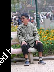 Old Vietnamese Man, Ho Hoan Kiem Lake Park, Hanoi