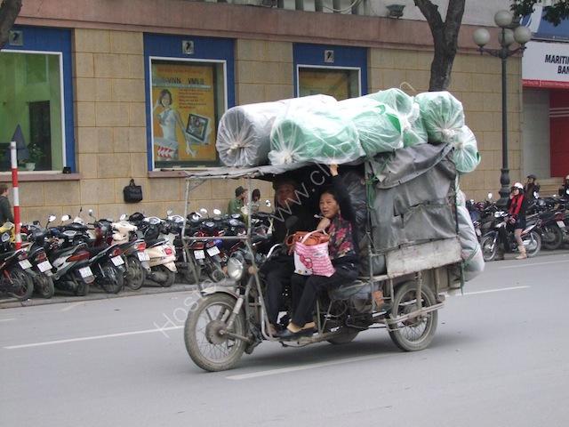 Three Wheel Motorbike Carriage, Hanoi