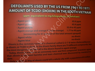 Defoliants Used by US between 1961 & 1971, Bao Tang Chung Tich Chien Tranh (War Remnants Museum), Ho Chi Minh City
