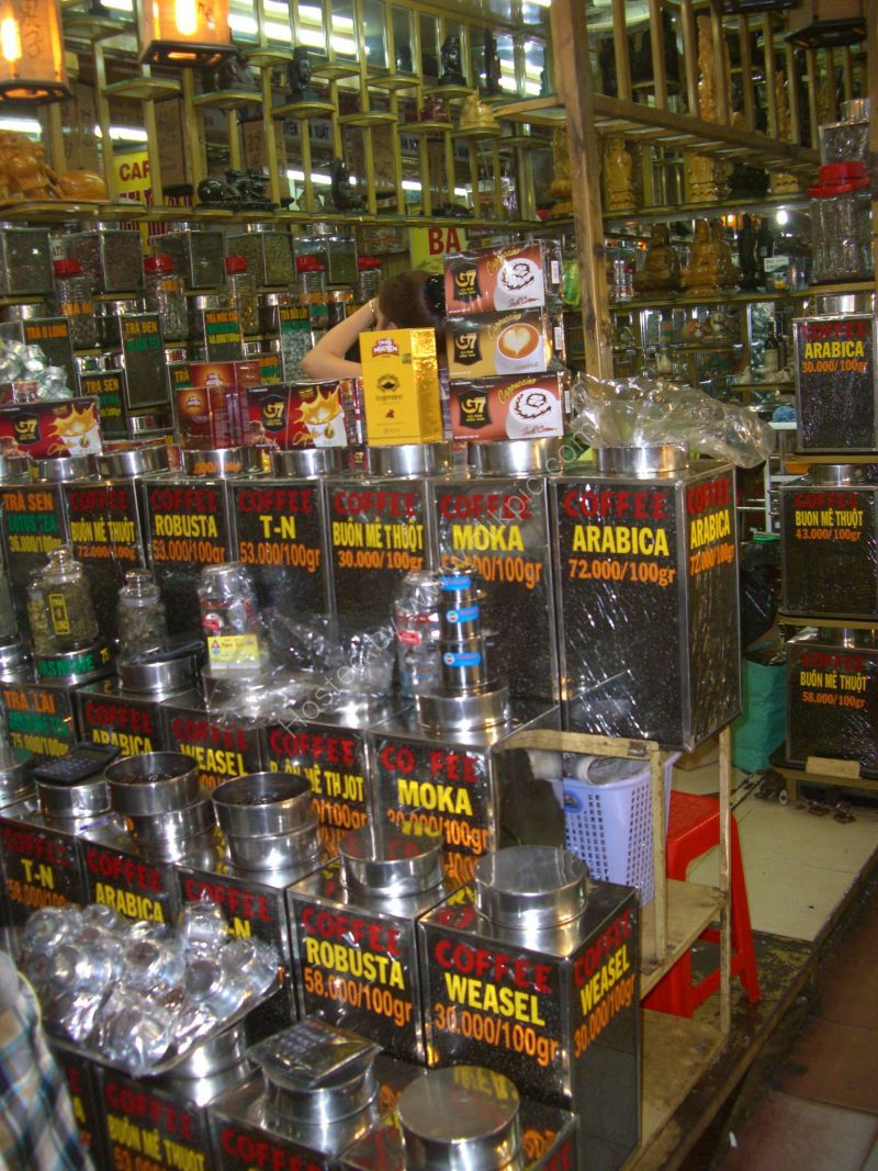 Massive Coffee Choice! Cho Ben Thanh Market