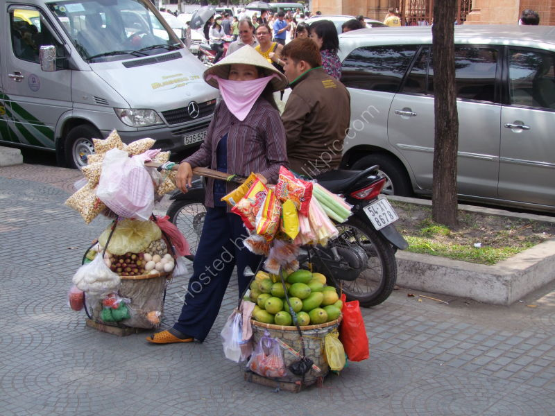 Fruit & Snacks Street Seller, Ho Chi Minh City