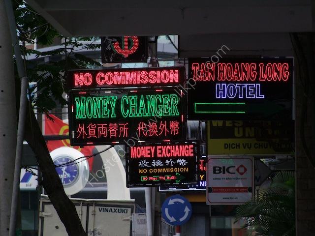 Money Exchange Signage, Ho Chi Minh City