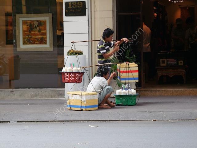 Coconut Milk Drink Vendors, Ho Chi Minh City