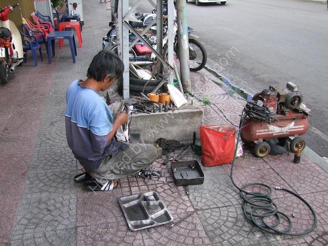 Street Motorbike Repairs, Ho Chi Minh City