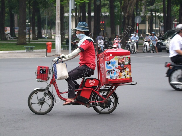 Motorbike Ice Cream Vendor, Ho Chi Mink City