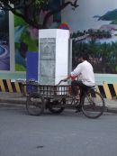 Refrigerator Delivery by Bicycle! Ho Chi Minh City