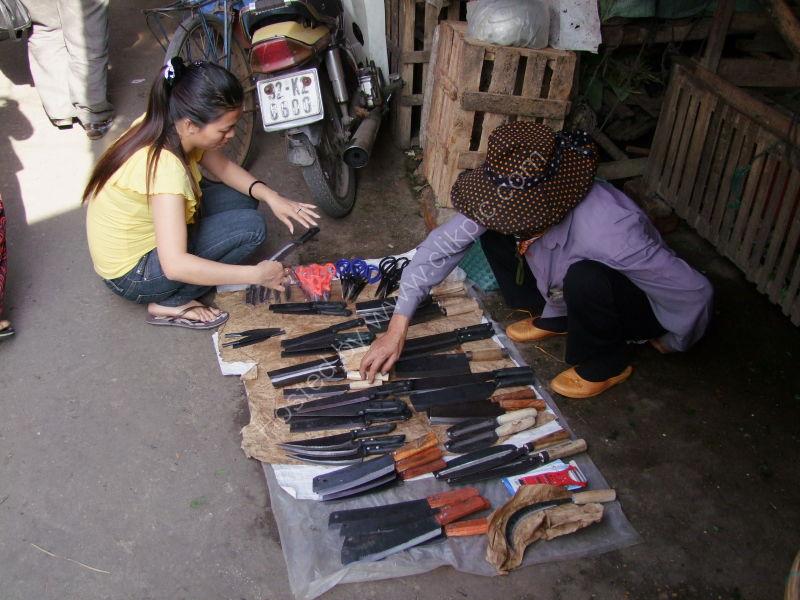 Knife Seller, Hoi An Market