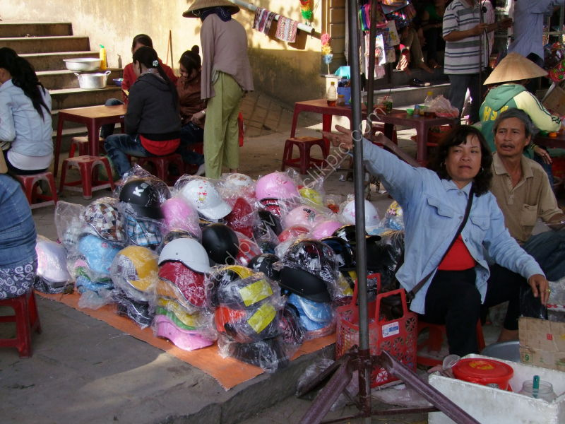 Motorcycle Helmet Seller, Hoi An Market